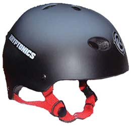 Kryptonics Black Helmet